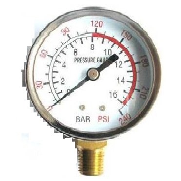 pressure gauge bottom mount